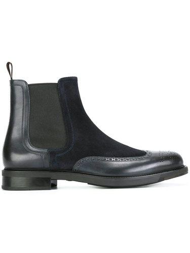 ботинки Челси с дизайном брог Santoni