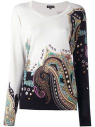 пуловер с абстрактным принтом Etro