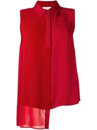асимметричная рубашка без рукавов  DKNY