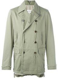 двубортная куртка с бахромой Maison Margiela