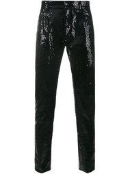 декорированные брюки  Saint Laurent