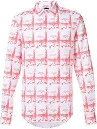рубашка с абстрактным принтом  Hood By Air