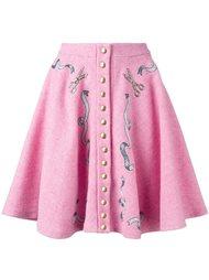 плиссированная юбка с кнопочной застежкой Olympia Le-Tan