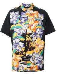 рубашка с цветочным принтом Yohji Yamamoto Vintage