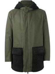 куртка с капюшоном и отделкой из овчины Fendi