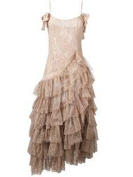 длинное платье 'Swan' Alessandra Rich