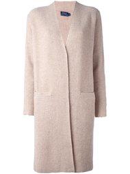 трикотажной пальто ребристой вязки Polo Ralph Lauren