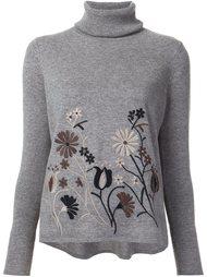 свитер с цветочной вышивкой Co