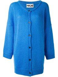 трикотажное пальто с застежкой на пуговицы Hache