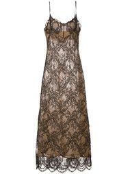 кружевное платье макси Erika Cavallini