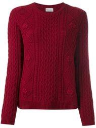свитер с косами Red Valentino