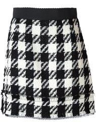 твидовая юбка в клетку Dolce & Gabbana