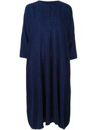 платье-рубашка свободного кроя в клетку Daniela Gregis