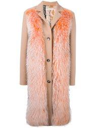пальто с отделкой из меха енота Emilio Pucci
