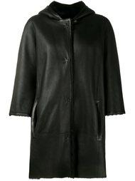 пальто с капюшоном  Yves Salomon
