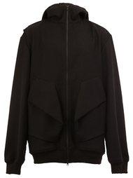 draped pocket oversize hoodie Moohong