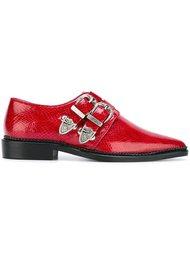 туфли с пряжками и заостренным носком Toga