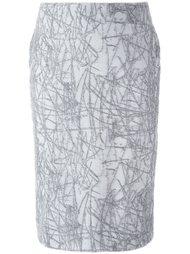 юбка-карандаш с узором Cristiano Burani