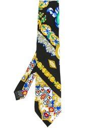 галстук с барочным узором Versace Vintage