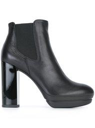 сапоги на массивных каблуках Hogan