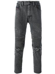 байкерские джинсы скинни Diesel