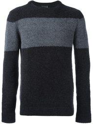 свитер с контрастной полосой Emporio Armani
