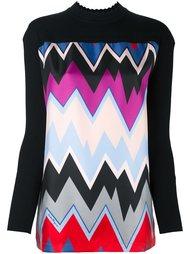 блузка с рисунком в виде шевронов Salvatore Ferragamo