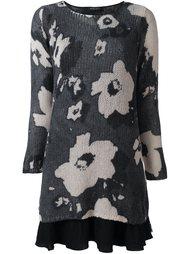 платье-свитер с цветочным принтом   Twin-Set