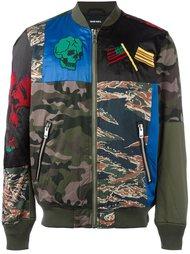 камуфляжная куртка бомбер Diesel