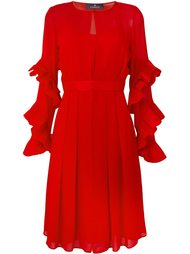 платье с плиссированной отделкой Capucci