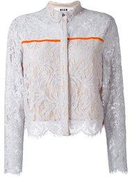 кружевная укороченная куртка MSGM