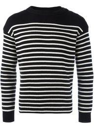 полосатый трикотажный свитер  Saint Laurent
