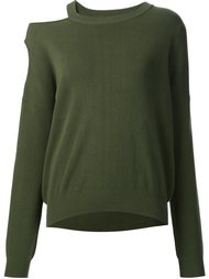 cut-out shoulder sweatshirt Nomia