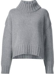 thick ribbed collar pullover Sally Lapointe