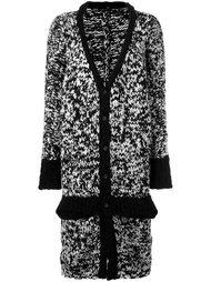 трикотажное пальто крупной вязки Y's
