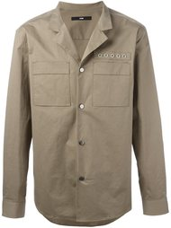 куртка-рубашка с декоративными кольцами System Homme