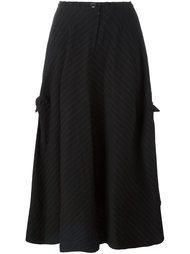 драпированная юбка в тонкую полоску Y's