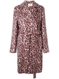 пальто с леопардовым принтом   Ports 1961