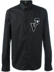 рубашка с заплаткой-логотипом Versus