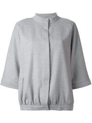 укороченная куртка без воротника Eleventy