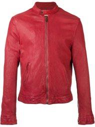 slim fit leather jacket Pihakapi