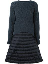 многослойное платье-свитер  Moncler