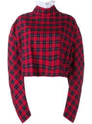 ruched sleeve cropped sweatshirt A.W.A.K.E