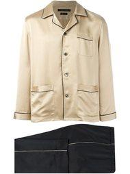 двухцветная классическая пижама Marc Jacobs