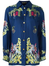 'Royal army' printed shirt Escada Vintage