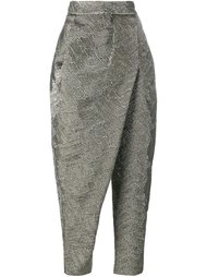 wrapped tapered trousers A.W.A.K.E