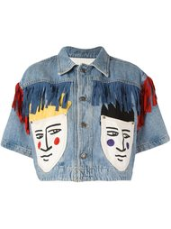 cropped denim jacket Jc De Castelbajac Vintage