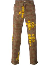 printed checked trousers Walter Van Beirendonck Vintage