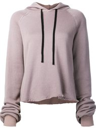 raw hem hoodie Unravel