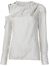 striped cold shoulder blouse Monse